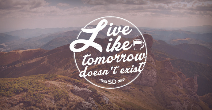 Live like tomorrow doesn't exist!!! #type #lettering #hand #typography