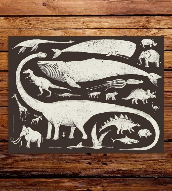 Large Creatures Art Print by Factory 43 #design #graphic #illustration #art #animals