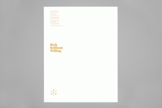 Project Projects — Rich Brilliant Willing identity