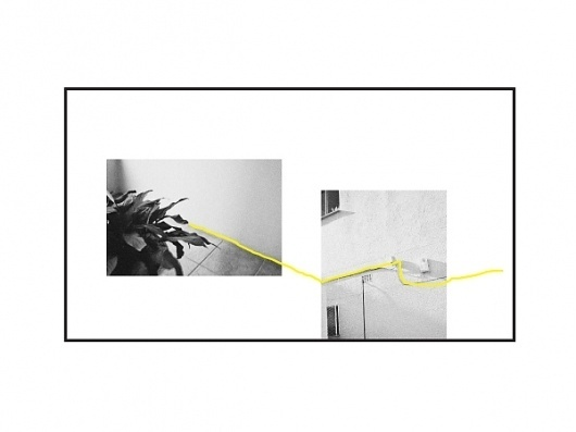Jack Walsh #frame #line #white #yellow #balck #artwork #photography #jack #minimal #and #walsh