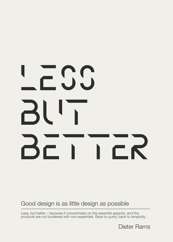 Minim #less #better #but