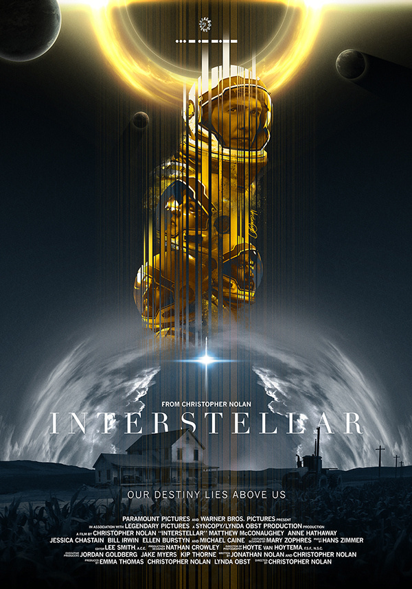 Poster by Laura Racero #inspiration #design #print #poster #creative #movie #film #interstellar #unique #space