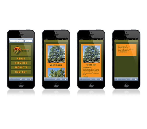 Everlasting Arbor on Behance #tree #brand #nature #identity #mobile #planting