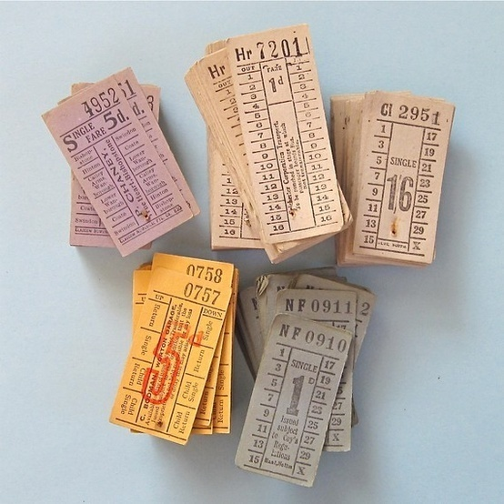 Bus tickets #bus #tickets #vintage
