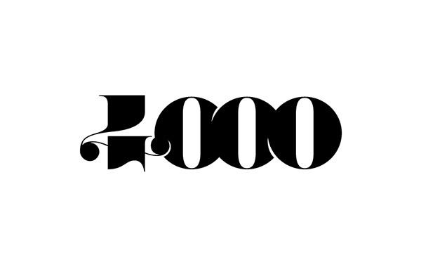Logos & typos / 2013-2014 on Behance #numbers #logo #4000