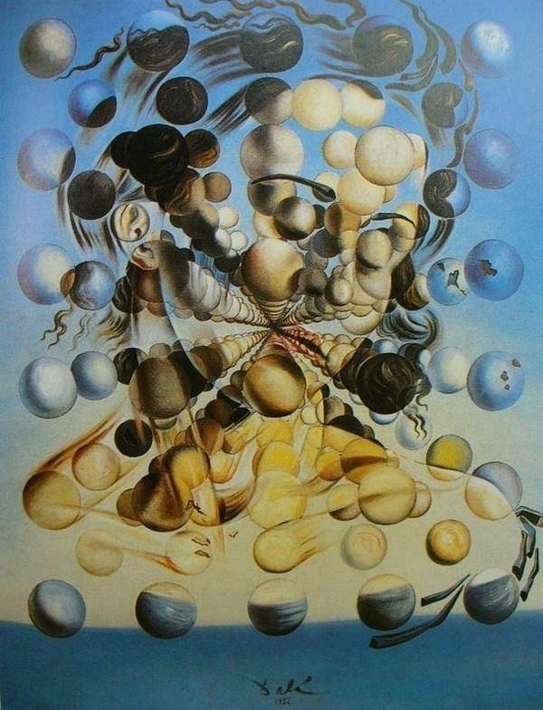 "Salvador Dali and his surrealistic painting ""Galaofspheres"" #surrealism #surrealistic #painting #paintings"