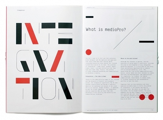 mediaPro — Brochure on the Behance Network #layout #design #brochure #typography