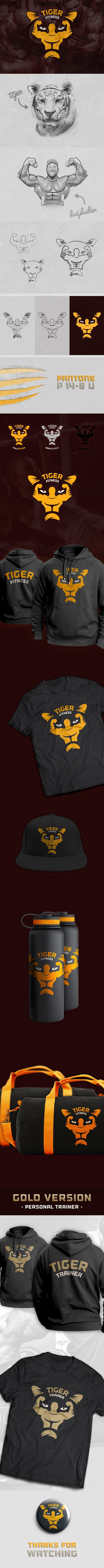 Tiger Fitness Center #inspiration #design #brand #identity #logo