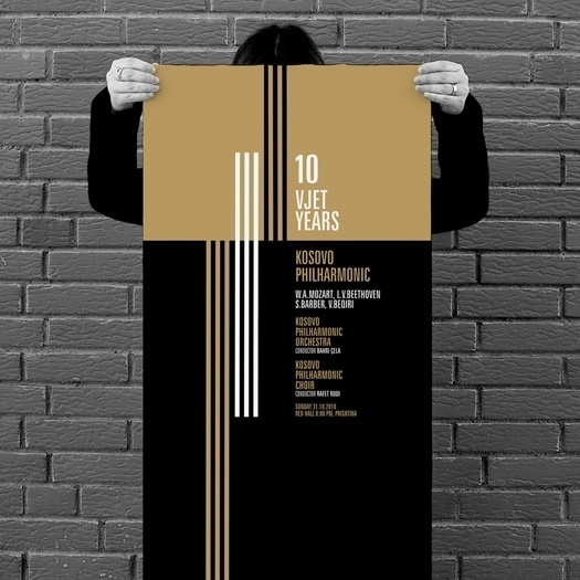 projectgraphics - typo/graphic posters #kosovo #10 #event #years #philharmony #prishtina #projectgraphics #poster