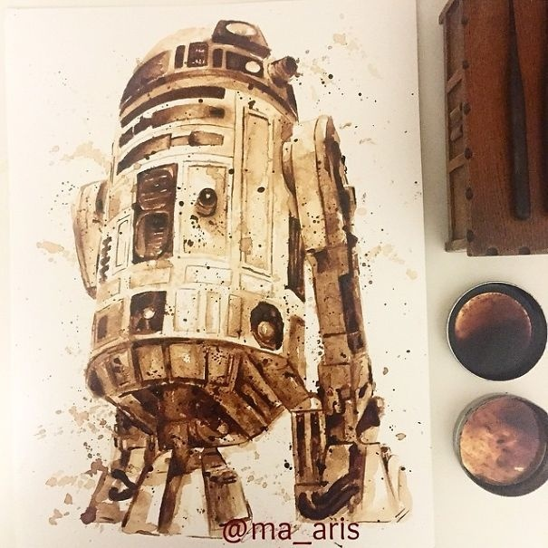 I Use Coffee To Draw Detailed Paintings Of My Favourite Characters   Bored Panda #coffee #painting