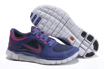 Nike Free Run 3 Night Blue Pure Platinum Fireberry-Womens #fashion