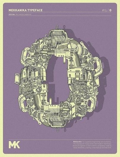 MEKKANIKA on the Behance Network #mechanical #riccardo #mekkanika #technical #sabatini #typography