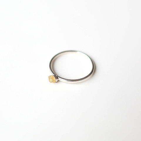 Nanhā Citrine Ring || Sterling Silver #silver #pulse #design #crystal #jewelry #citrine #sterling #parallel #ring