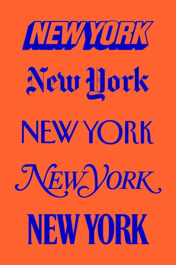 new york #poster #typography