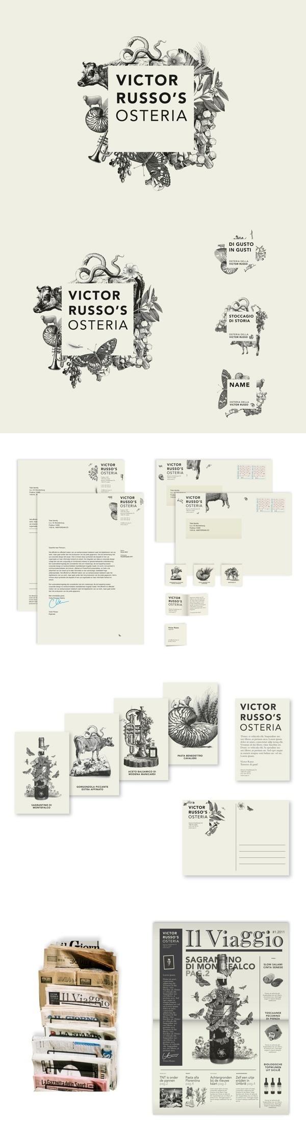 Victor Russo's Osteria #brand #identity