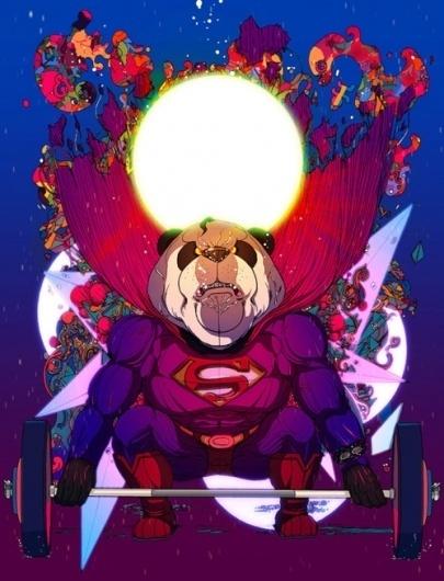 http://thecoolsumist.tumblr.com/tagged/illustration/page/3 #illustration #superheroes #animals