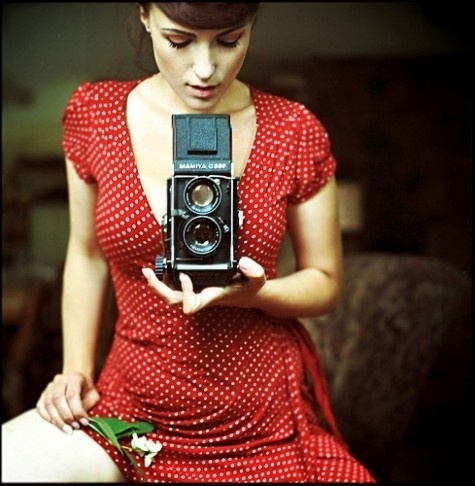 girl and camera #woman #girl #self #camera #photography #portrait #film #dress