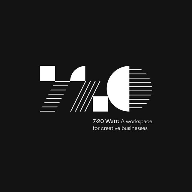 Our own shared studio space finally has a name and #logo! Introducing 7.20 Watt. If you're looking for a cozy place to work, you can find