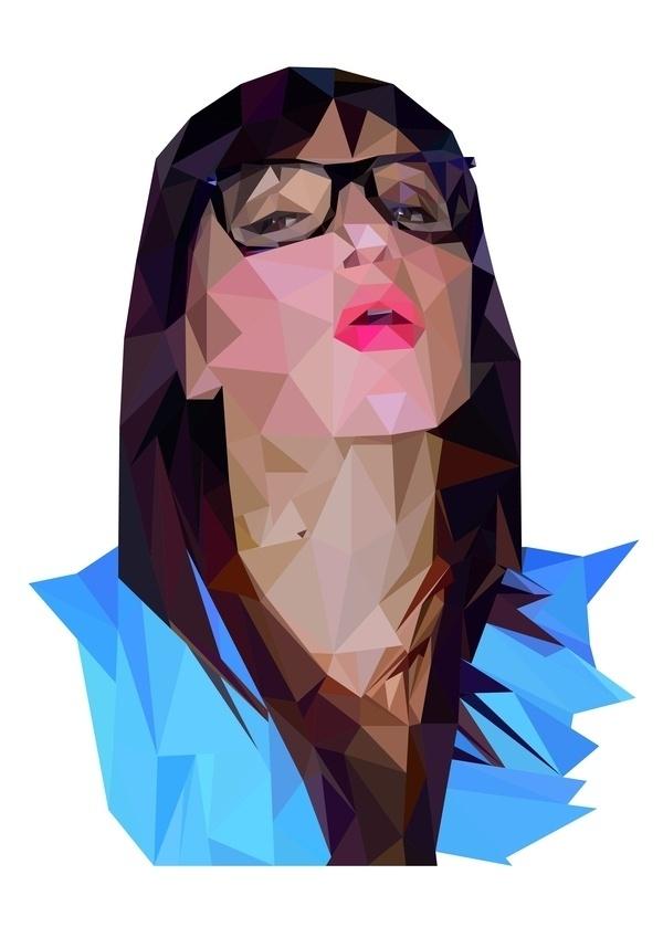 Self-portrait Project on the Behance Network #geometry #nurdinova #self #karina #illustration #portrait