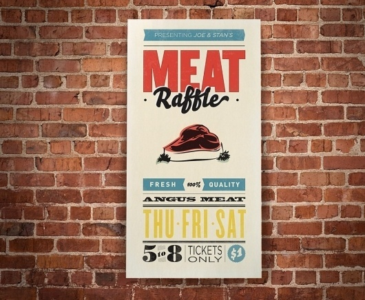 Sarah Ekstrom — Designer #brick #design #graphic #meat #poster #joestans