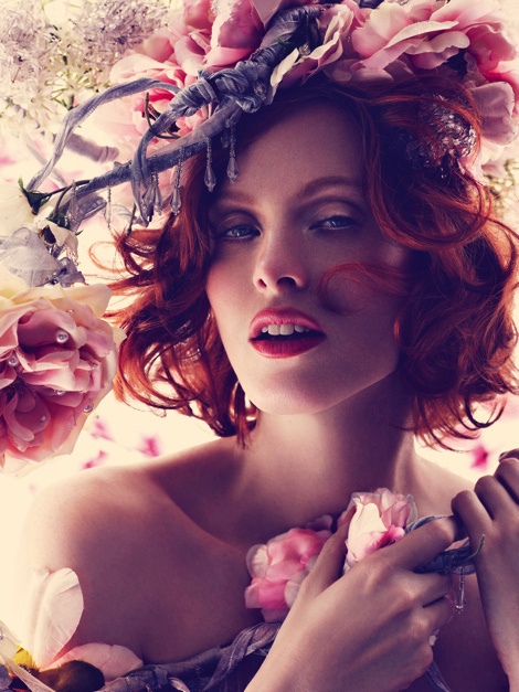 Karen Elson by Alexi Lubomirski for Harper's Bazaar UK #model #girl #campaign #photography #portrait #fashion #editorial #beauty