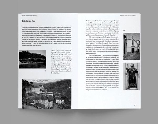 """Monograph ‒ """"A Rua do Burgo de Entre os Rios"""" on Behance #pages #design #greyscale #grid #spread #editorial"""