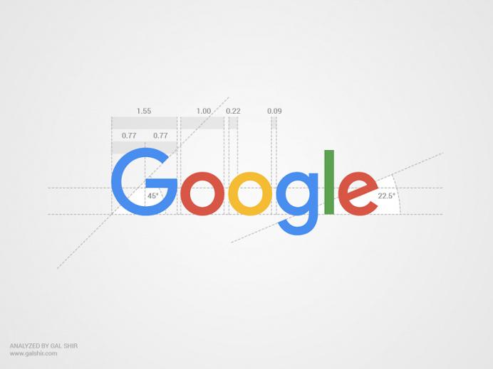 Google's New Logo Analyzed by Gal Shir