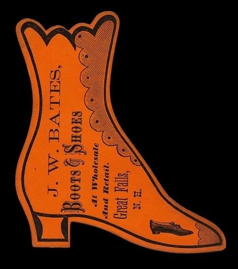 J. W. Bates   Sheaff : ephemera #diecut #typography