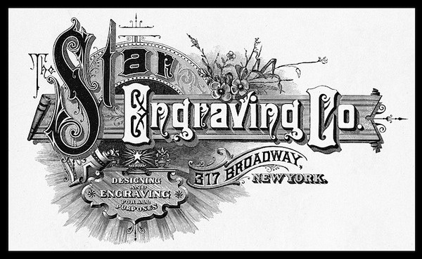 StarEngraving150 #type #old #design