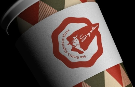 San Gretti´s Signature Slices Visual Identity on the Behance Network #packaging #logo #identity