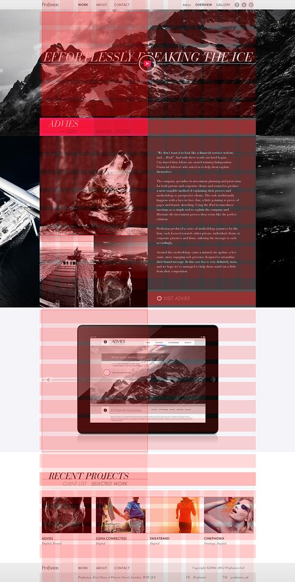 Profission 960 Grid Layout #2013 #website #grid #digital #profission #layout #web