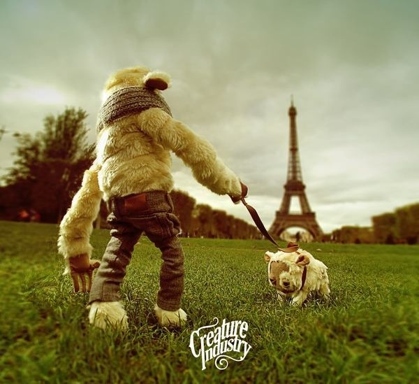 Le Creature Industry à Paris on the Behance Network #paris #eiffel #mascot #dog #france #monster #tower #toy #creature