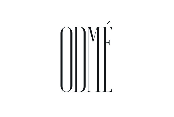 Condensed serif logotype designed by Two Times Elliott for Paris accessory brand Odmé #odme #logo #letters