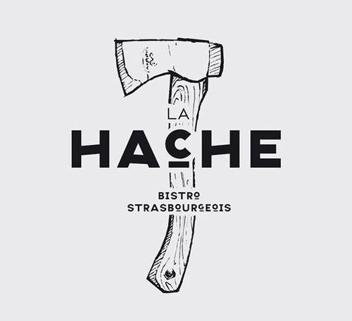Drop Anchors #hatchet #bistro #hache #design #graphic #illustration #axe #logo #typography