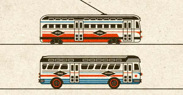 Riley Cran | Streetcar + Bus #illustration