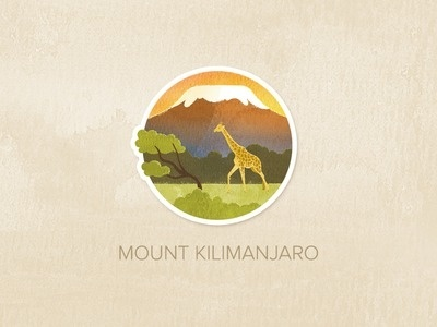 Day Fifteen: Mount Kilimanjaro #logo #illustration