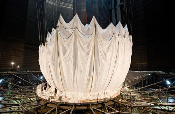 Big Air Package: The Largest Inflated Envelope in History by Christo #dome #inflated #installation