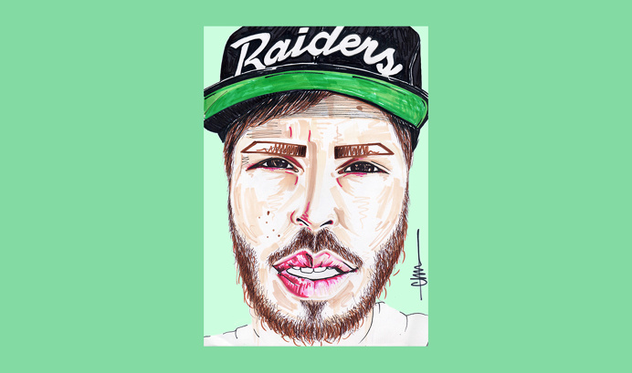 Chris for 'Birthday Special' series by Chiamaka Ojechi #illustration #pastel #mintgreen #raiders #markers #promarkers #minimal