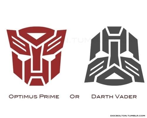 Optimus Prime Or Darth Vader | Pic | Gear #darth #vader #prime #optimus