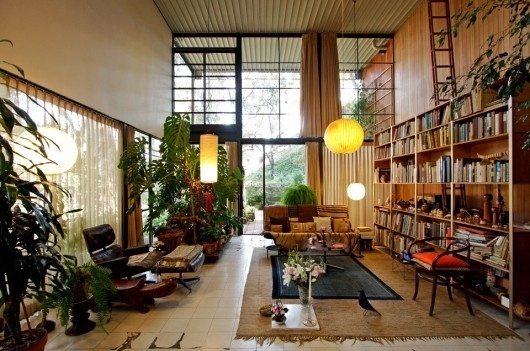 Charles and Ray Eames Living Room Exhibit | WANKEN - The Art & Design blog of Shelby White #interior #design