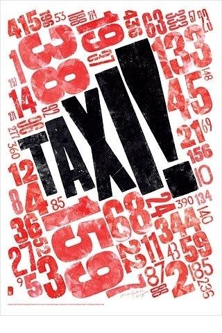FFFFOUND! | Blanka || Supersize #woodblock #letterpress #taxi #typography