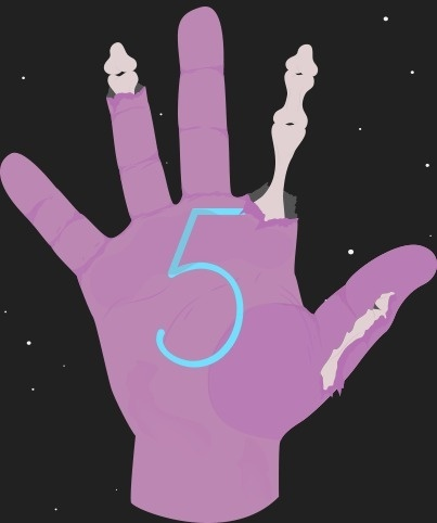 ANONYMOUS MAG x Form Fifty Five #inspiration #form #fifty #sign #language #graphic #bone #header #ghouls #illustration #five #hands #zombie #typography