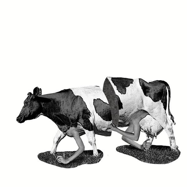 Milk? #modern #surrealism #vintage #art #collage