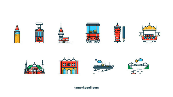 Icons of Istanbul by Tamer Koseliturkey #design #icons #turkey