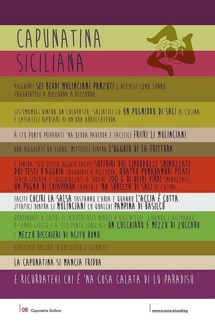 08   Capunatina Siciliana by no zone, via Flickr #cooking #2013 #calendar #design #food #illustration #photography #calendars