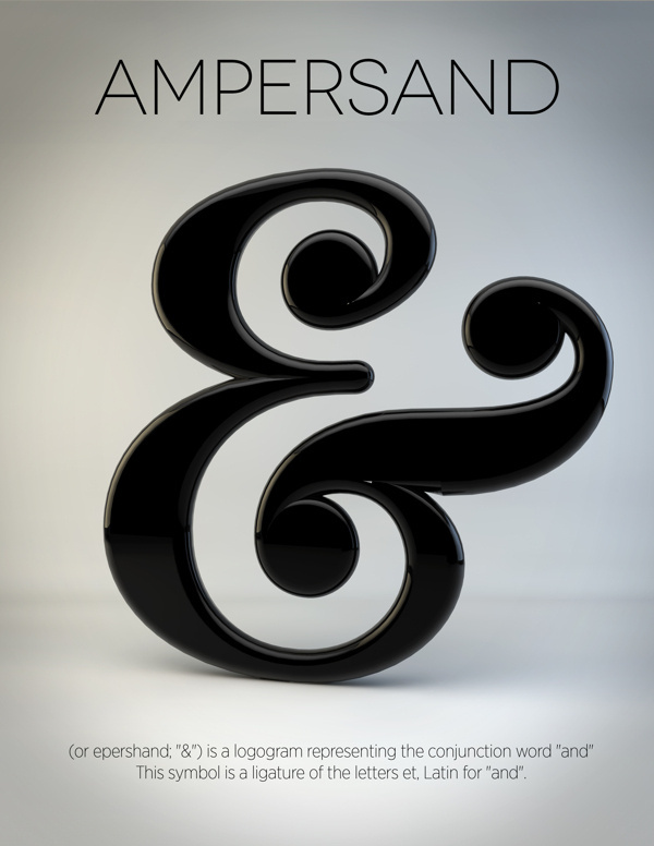 General Typography #simplistic #typography #ampersand #etymology #poster #general
