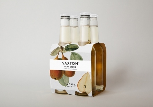 Bradley Rogerson Design Journal » Saxton Cider #packaging #branding