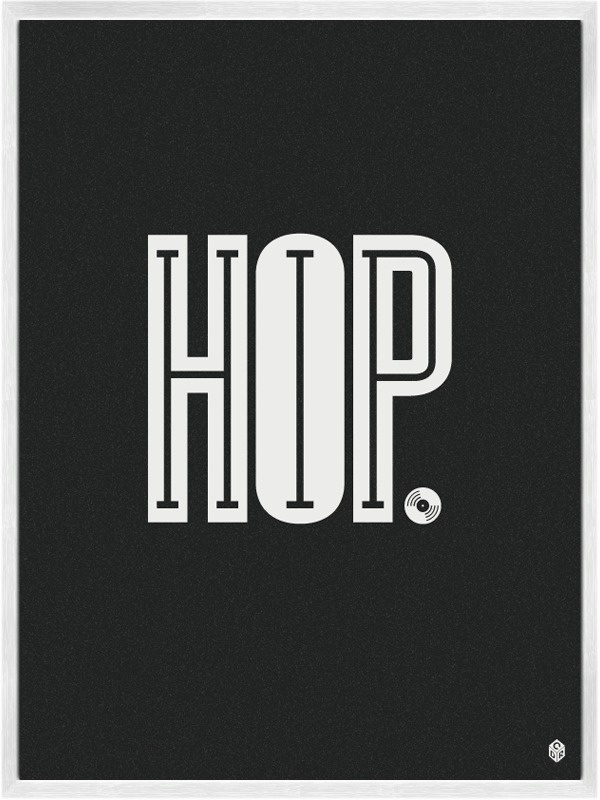 Hip Hop Music Poster by Christopher David Ryan #negative #space #poster #music #typography