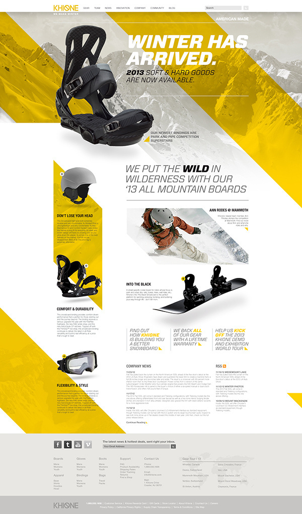 Khione Snowboard Website on Behance #website #ux #snowboard #contrast
