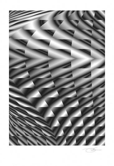 Wave Length 3 #wind #white #design #graphic #geometric #black #grid #photoshop #architecture #art #energy